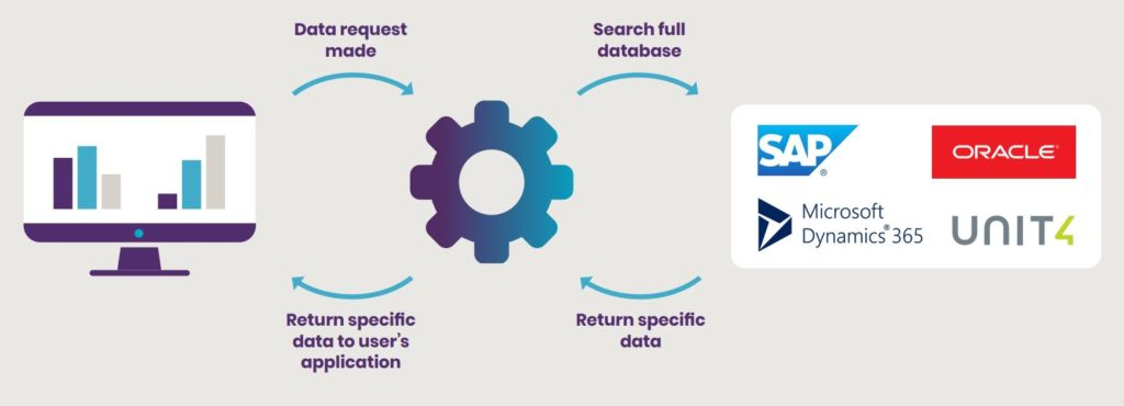API or live ERP system integration