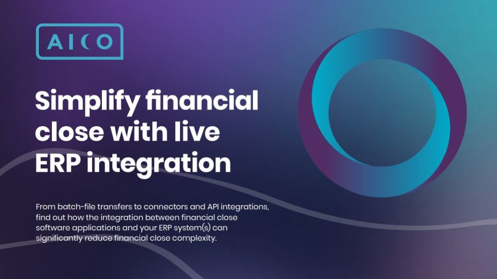 Simplify financial close with live ERP integration